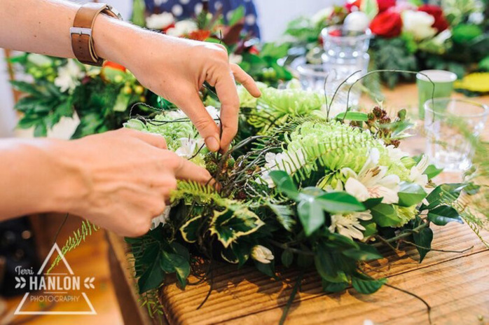 Christmas Table Wreaths at Francesca's Floral Workshops