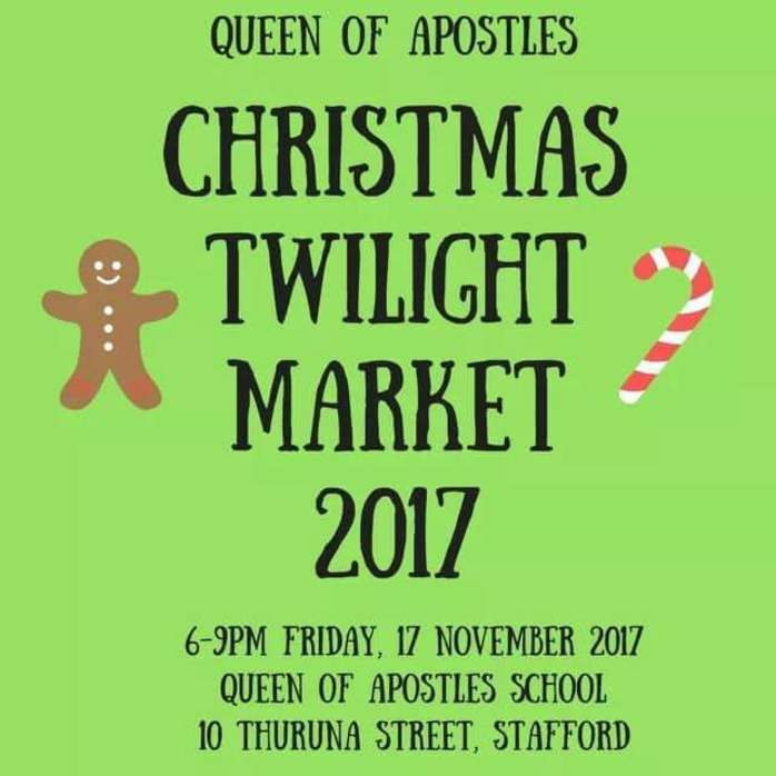 Queen of Apostles Christmas Twilight Market